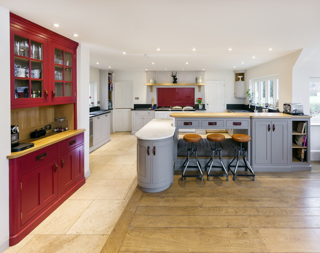 Colourful Country House Kitchen Levick Jorgensen Kitchens