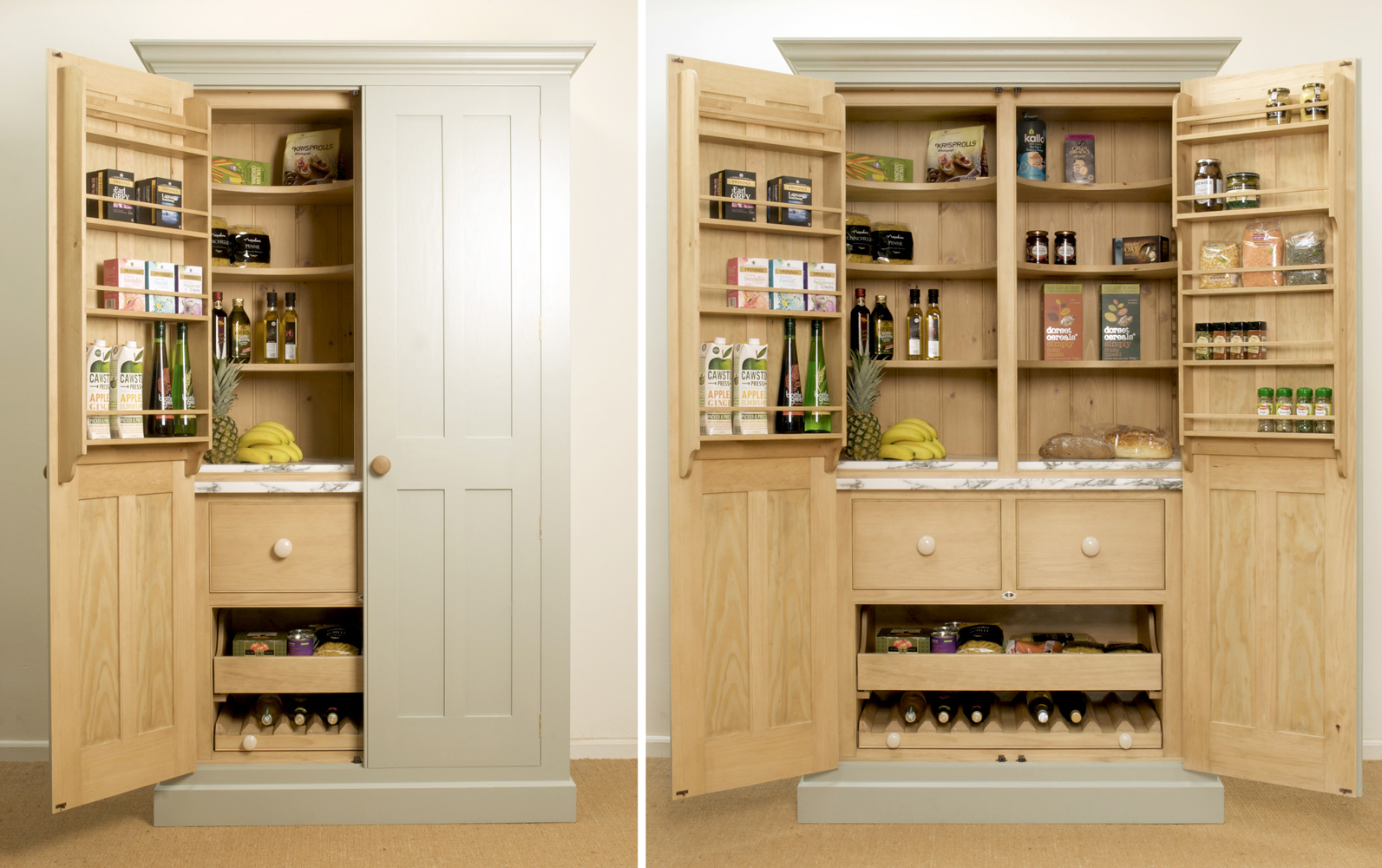 larder cupboards levick jorgensen kitchens. Black Bedroom Furniture Sets. Home Design Ideas