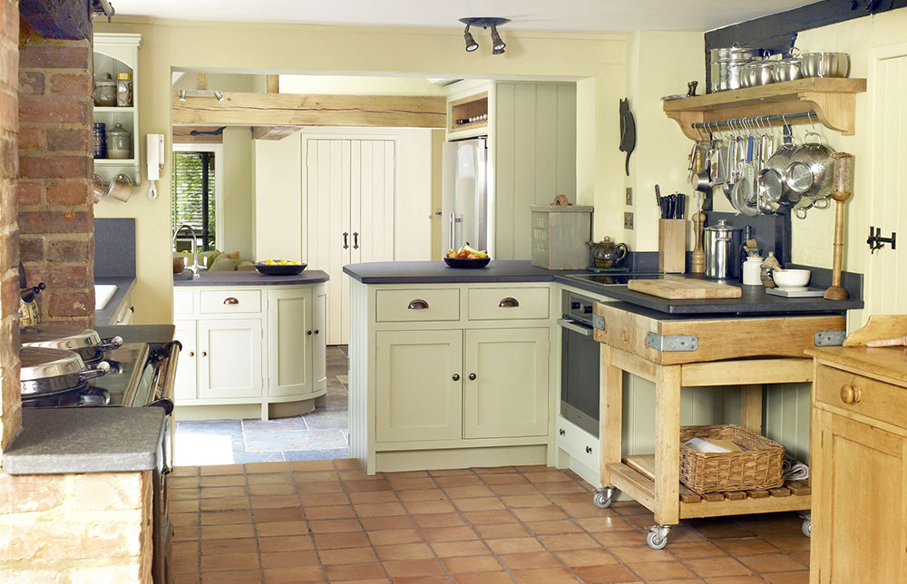 Split Level Cottage Kitchen